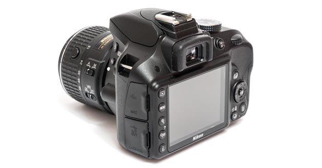 Nikon d3300 вид сзади