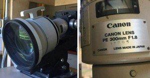 Объектив-монстр Cannon 300 мм  f/1.8 существует!